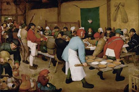 Peasant wedding Bruegel il vecchio 1564